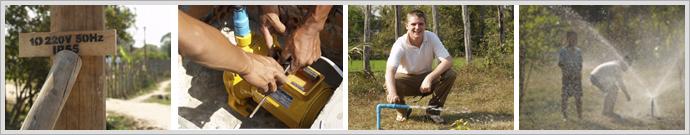 Strom- und Wasserkreislauf: Durch Spenden schnelle Umsetzung in die Tat